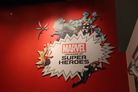 The Sign for the Museum of Pop Culture Marvel Universe Exhibit.