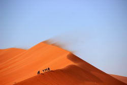 A Sahara Desert dune.