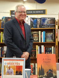 Author Brian Fies with his graphic memoir at Copperfields Books Sebastopol, CA