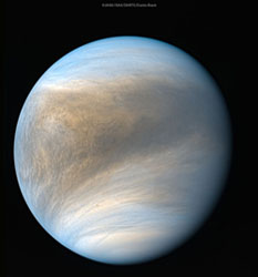 Venus, it's made of toffee! Not really. Image from the Planetary Society