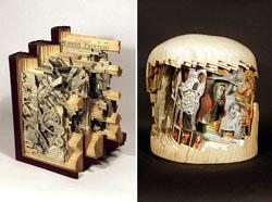 Altered books by Brain Dettmer. Image from Demilked.