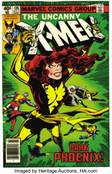 he Dark Phoenix comic cover. (Image  from Heritage Auction.)