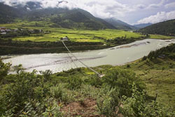 Punakha Suspension Bridge, image from Atlas Obscura