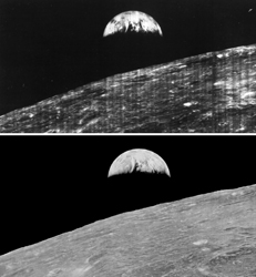 Earthrise. Image from NASA