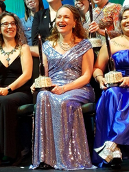 Mary Robinette Kowal, Hugo winner for Best Novel. Photo by John Scalzi