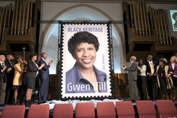 Gwen Ifill on the Forever stamp