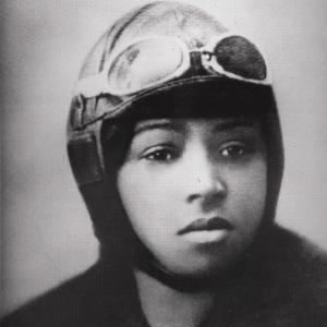Bessie Coleman, African American pilot who got her license in 1921.