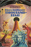 SF book reviews Piers Anthony Cluster 1. Vicinity Cluster 2. Chaining the Lady 3. Kirlian Quest 4. Thousandstar 5. Viscous Circle