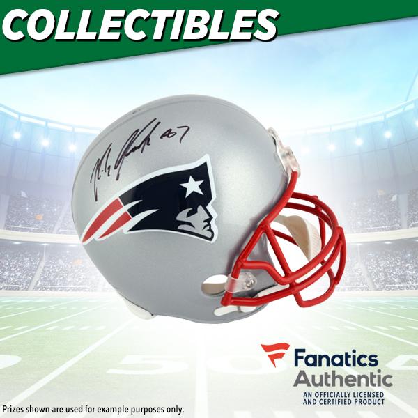 Rob Gronkowski Autographed Helmet