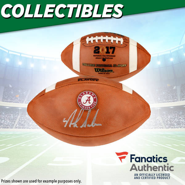 Nick Saban Autographed Football