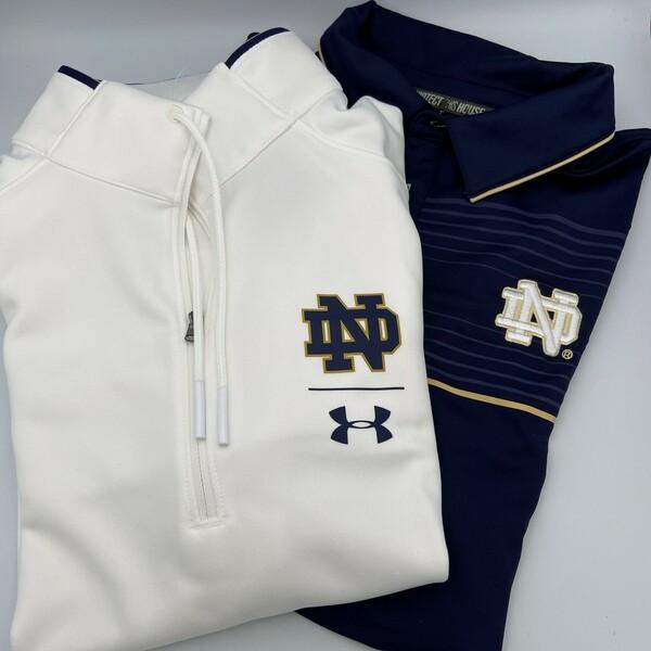 Notre Dame Quarter-Zip and Polo Shirt