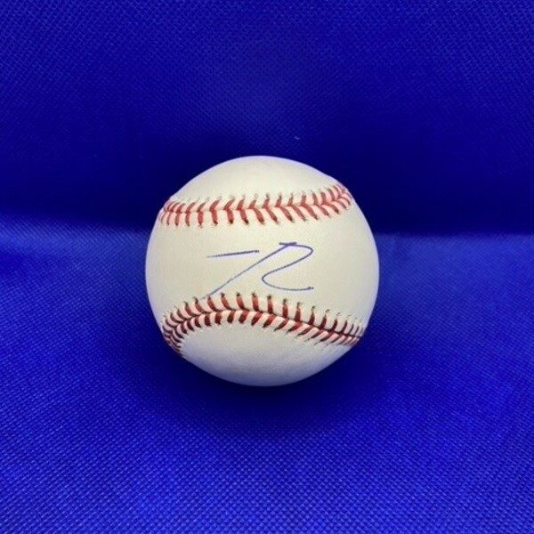 Jeter Downs Autographed Baseball