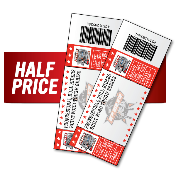One (1) Half Price UTB Ticket Price Level 2