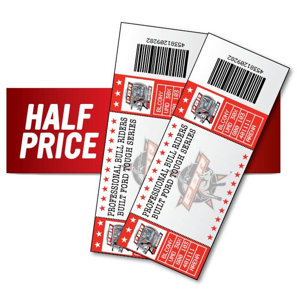 One (1) Half Price UTB Ticket Price Level 3