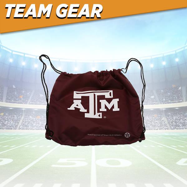 Texas A&M Drawstring Bag