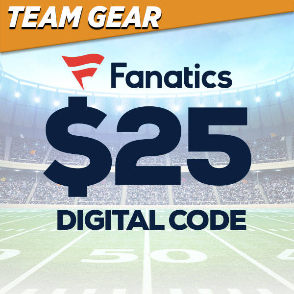 $25 Fanatics Digital Code