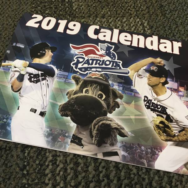 2019 Somerset Patriots Wall Calendar