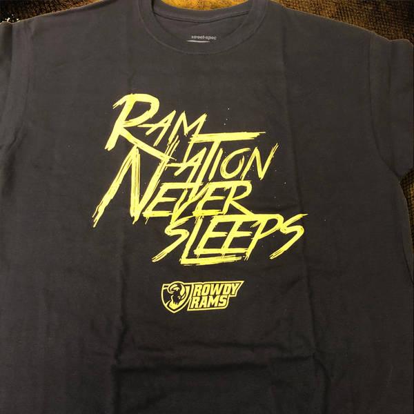 Ram Nation Never Sleeps Rowdy Rams Logo Shirt Vcu Rams Rewards