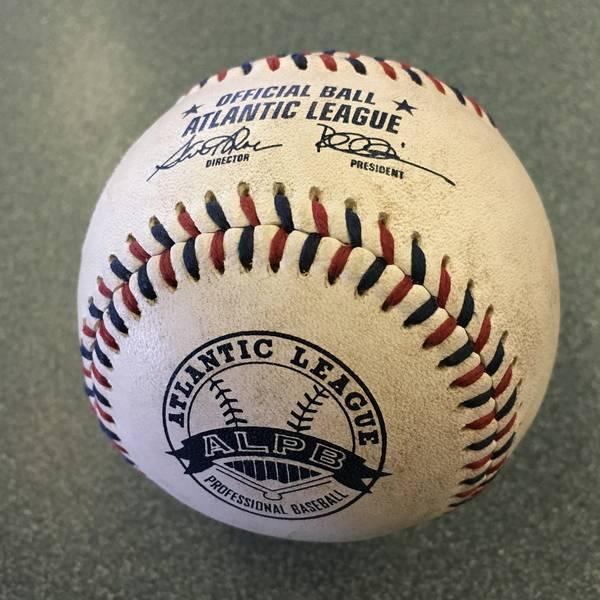 Game used baseball