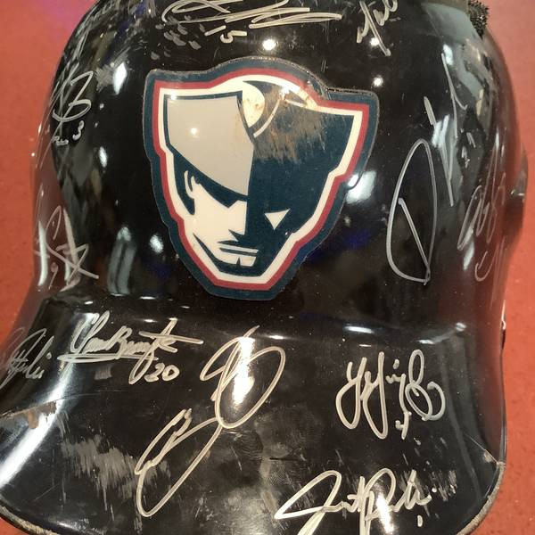 2019 Team Autographed Broken game used batting helmet