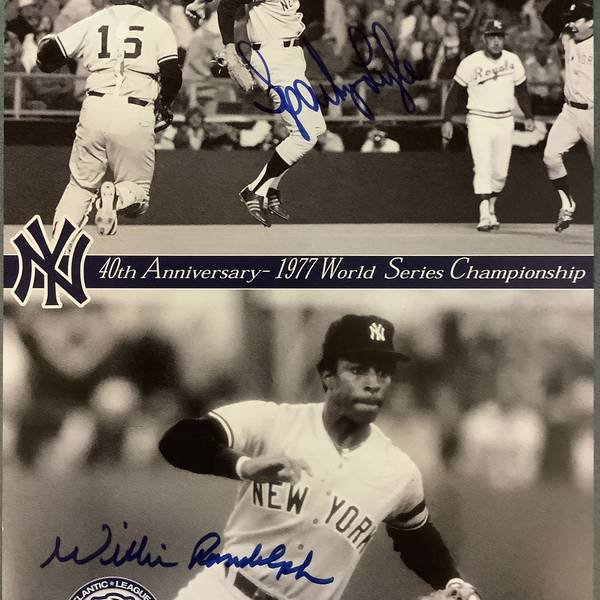 Willie & Sparky Autographed 8x10