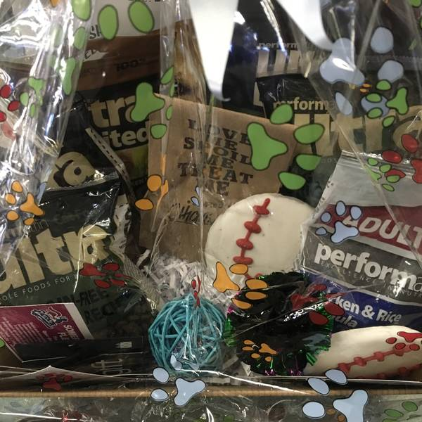 Cat and Dog Gift Basket