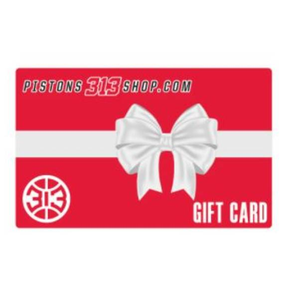 $10 gift card to Pistons313shop.com