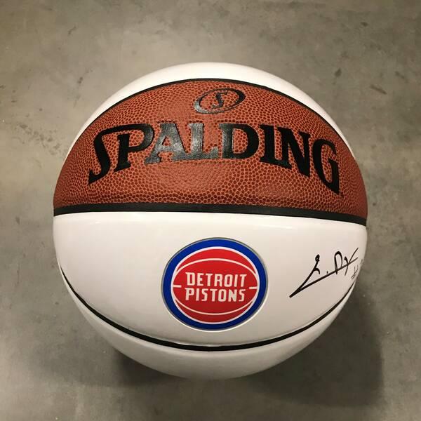 Killian Hayes Autographed Basketball