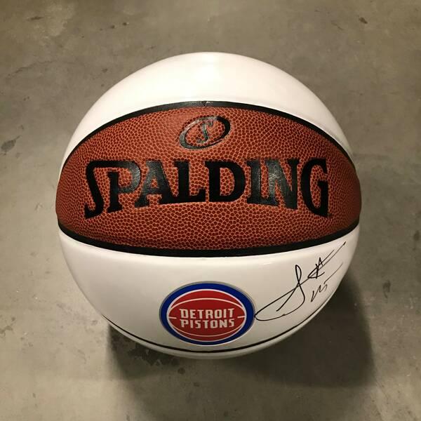 Sekou Doumbouya Autographed Basketball