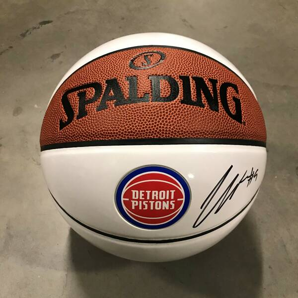 Jerami Grant Autographed Basketball