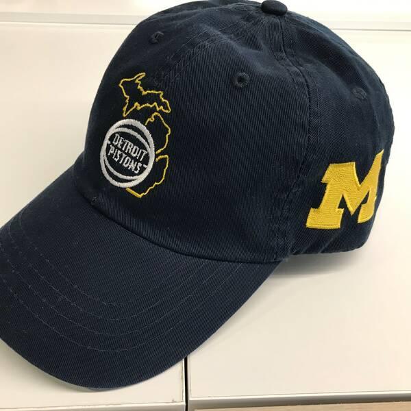 Pistons x University of Michigan Hat