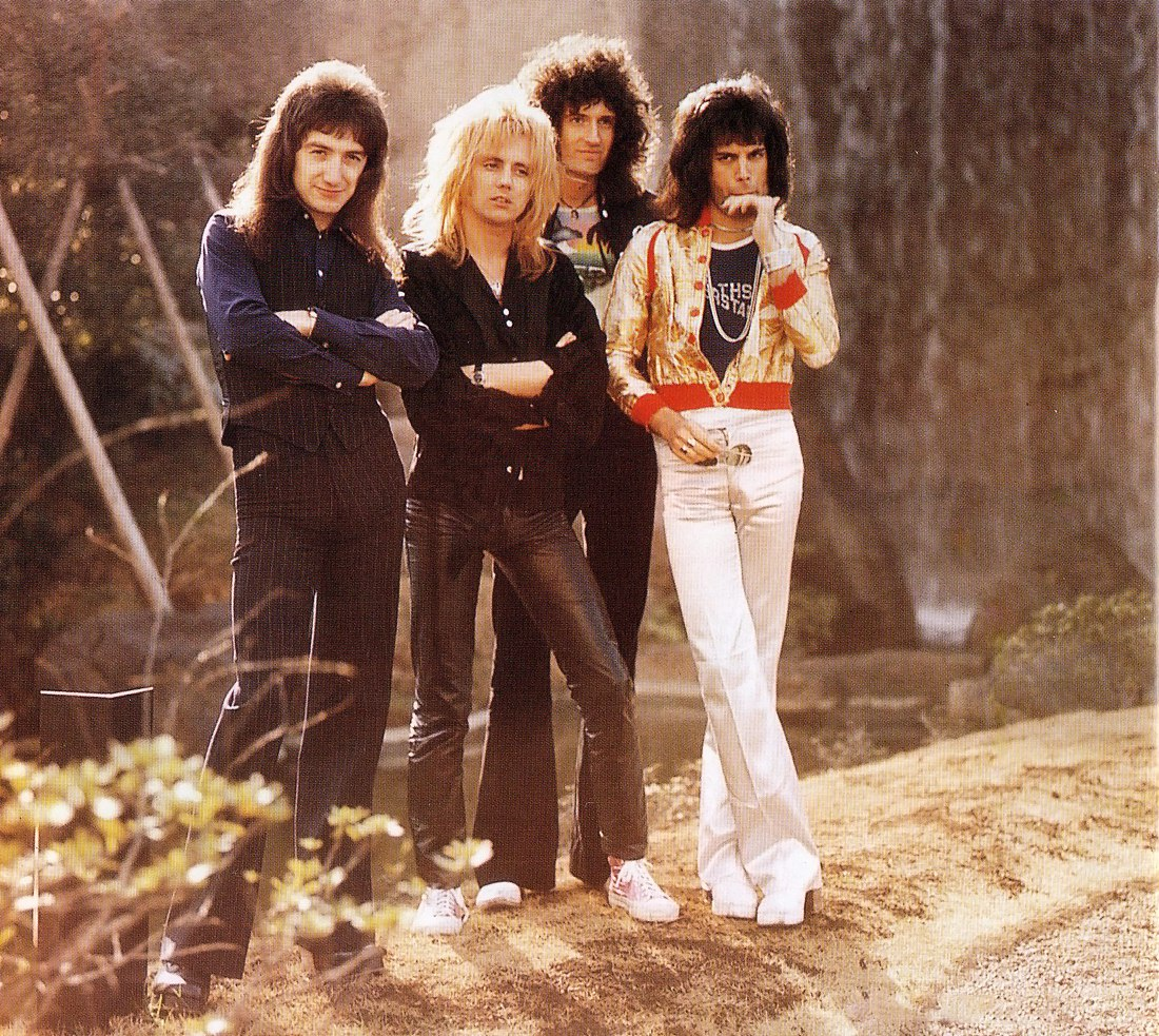 Queen freddiemercury JohnDeacon rogertaylor BrianMay classicrockbands 70s Japan