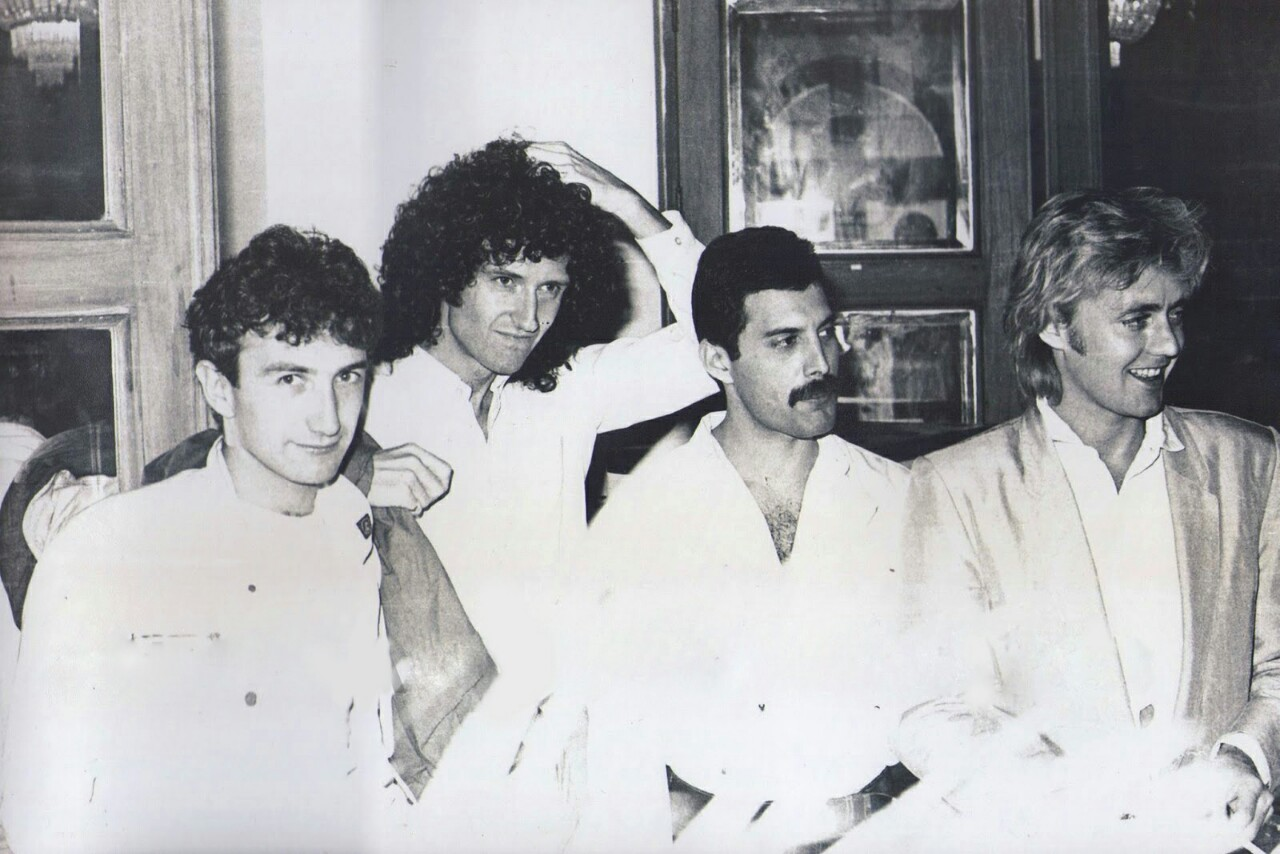 queen johndeacon brianmay freddiemercury classicrock classicrockbands 80s mexico
