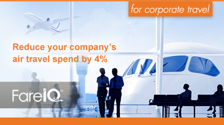 Save on corporate air travel with FareIQ