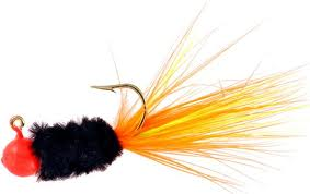 Mr. Crappie Slab Daddy 1/16Oz 3 Per Pack - Orange/Black/Lime-Orange SD2D-744