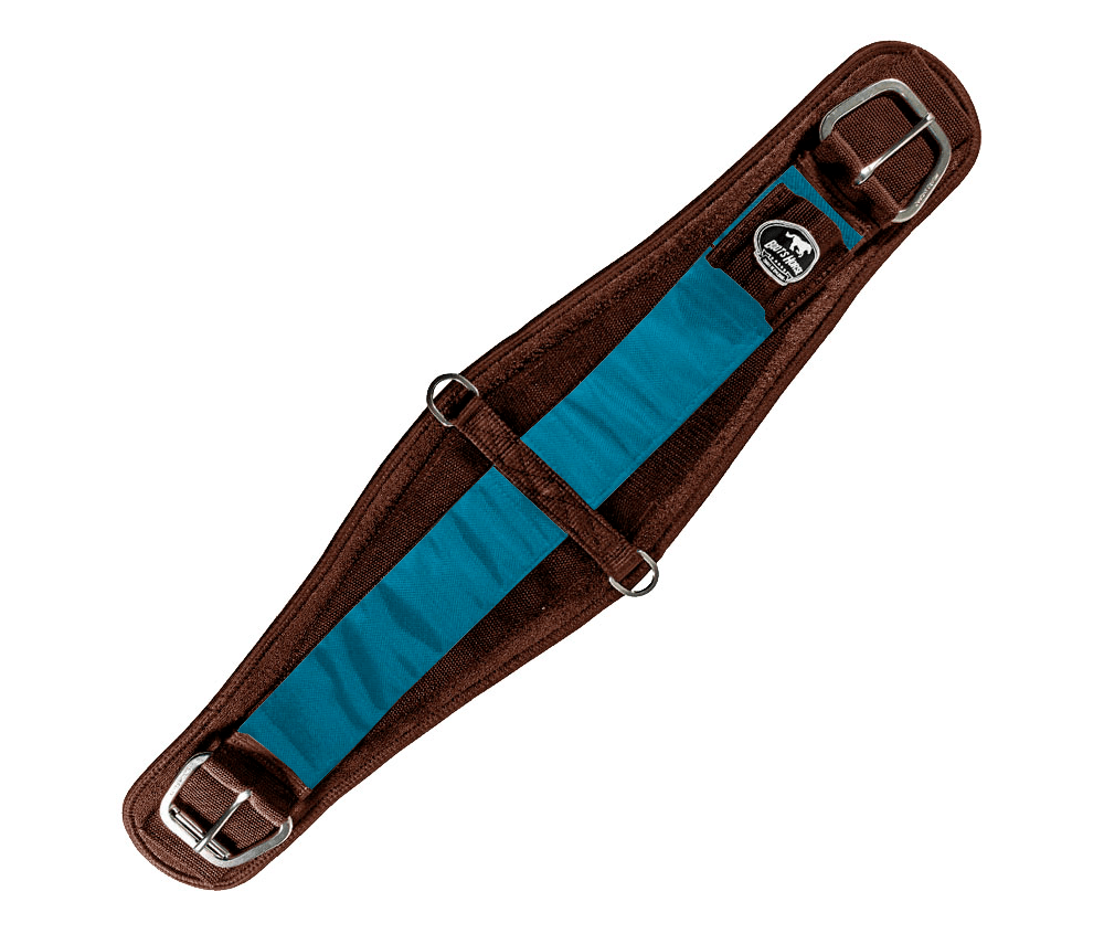 Barrigueira Dry Larga Boots Horse Marrom e Azul Claro