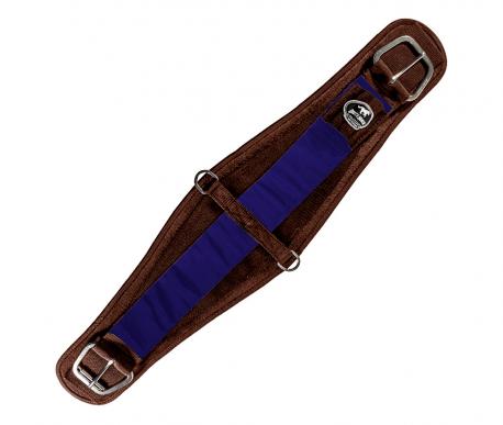 Barrigueira Dry Larga Boots Horse Marrom e Azul Escuro