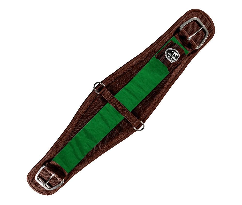 Barrigueira Dry Larga Boots Horse Marrom e Verde Escuro