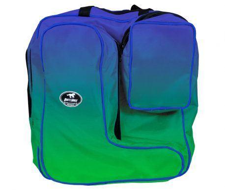 Bolsa com Porta Botas Boots Horse Degrade Azul e Verde