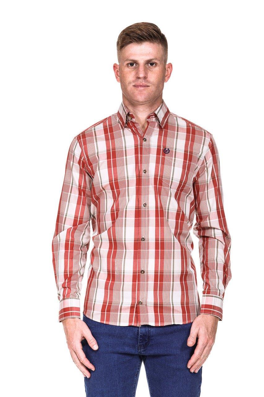 Camisa Masculina Uso Country Manga Longa Xadrez