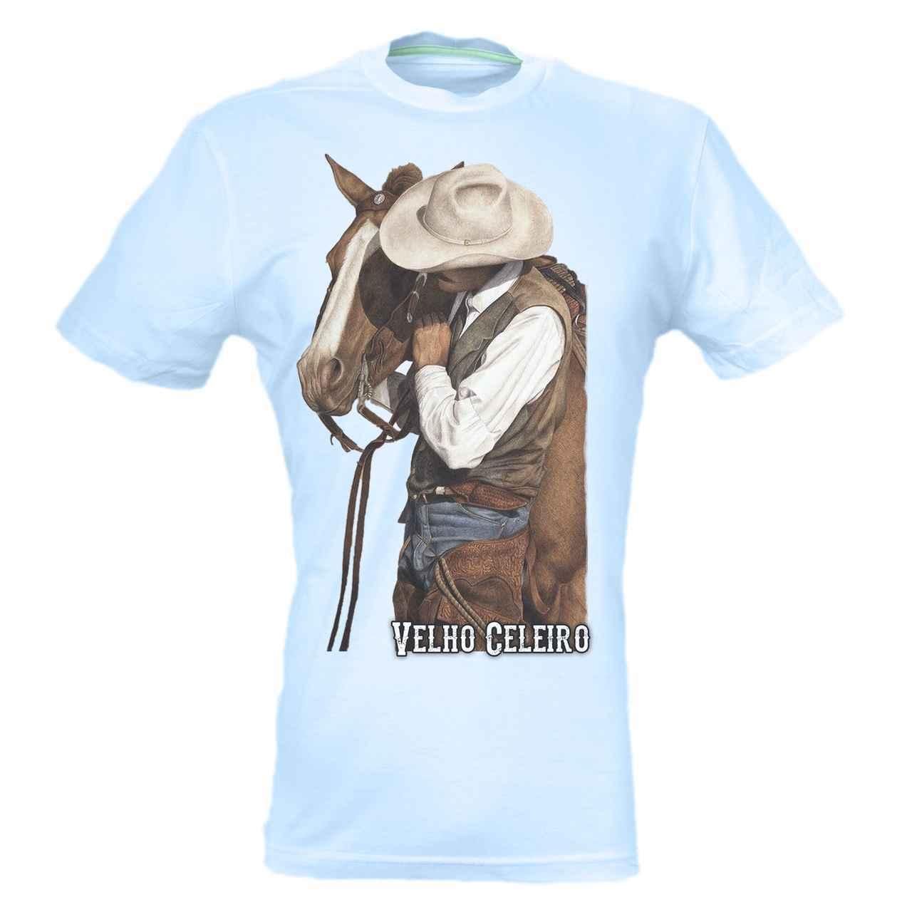 CAMISETA MASCULINA VELHO CELEIRO HORSE
