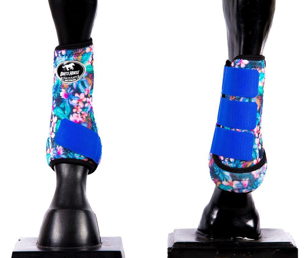 Caneleira Média Dianteira Boots Horse Estampa