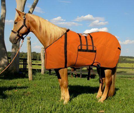 Capa Protetora com Barrigueira Boots Horse Laranja