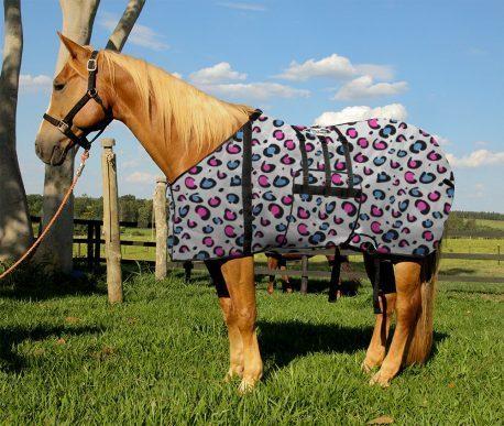 Capa Protetora com Barrigueira Boots Horse Onça