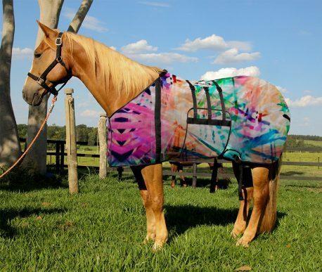 Capa Protetora com Barrigueira Boots Horse Raios