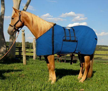 Capa Protetora com BarrigueiraBoots Horse Azul