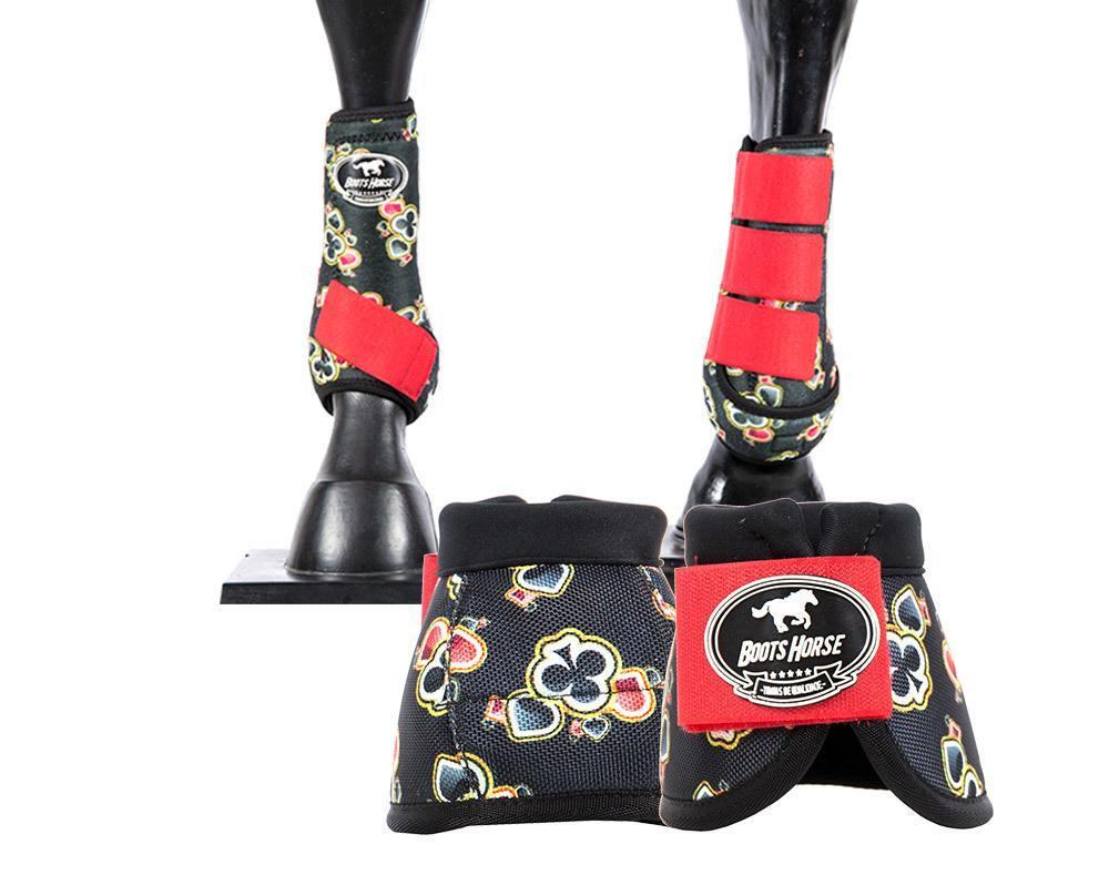 Kit Cloche + Boleteira Média Boots Horse Estampa