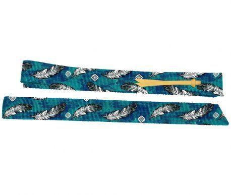 Latego e Contra Latego Boots Horse Azul e Penas Brancas