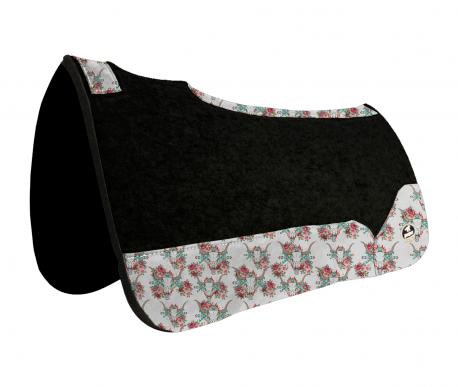 Manta de Tambor Free Model Quadrada Cabeça de Boi e Rosas