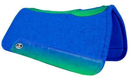 Manta de Tambor Rubber Quadrada Azul e Verde